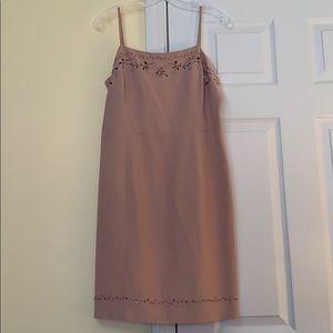 Pale Pink Silk/Linen Dress